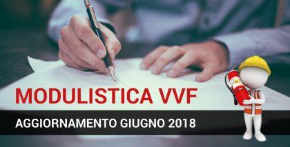 Aggiornamento Modulistica VVF (giugno 2018): ecco cosa cambia!