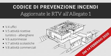 DM 14/02/2020: aggiornate le RTV all'Allegato 1 del Codice