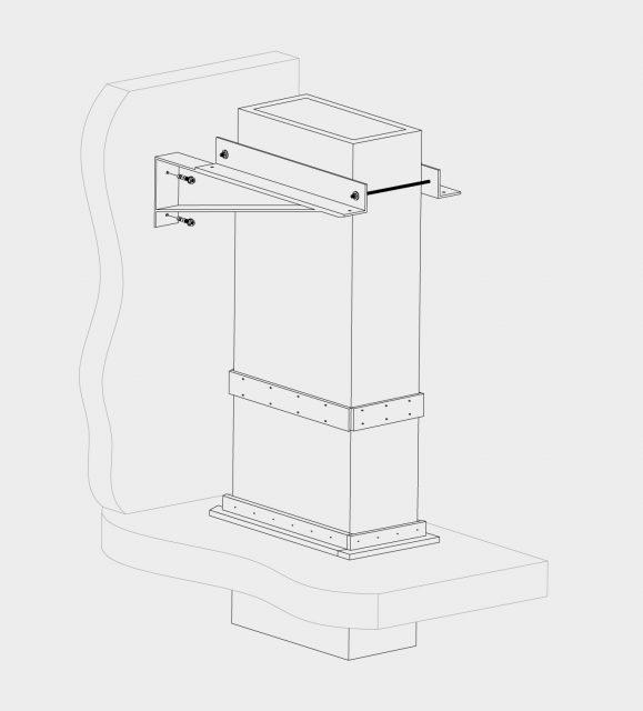HVAC Staffaggio verticale