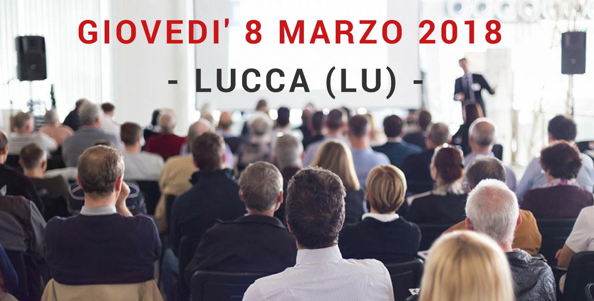 Seminario Tecnico Gratuito | 8 marzo 2018 | Lucca (LU)