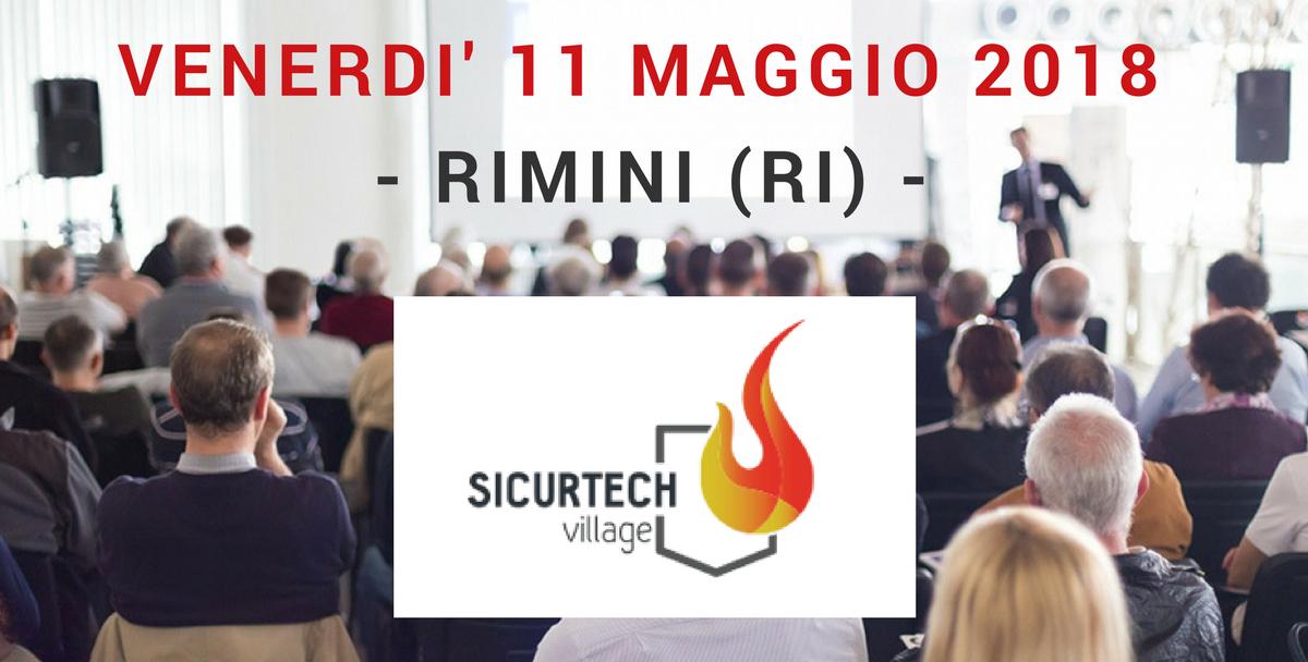 AerNova partner al SICURTECH VILLAGE del 11/05/2018 a Rimini