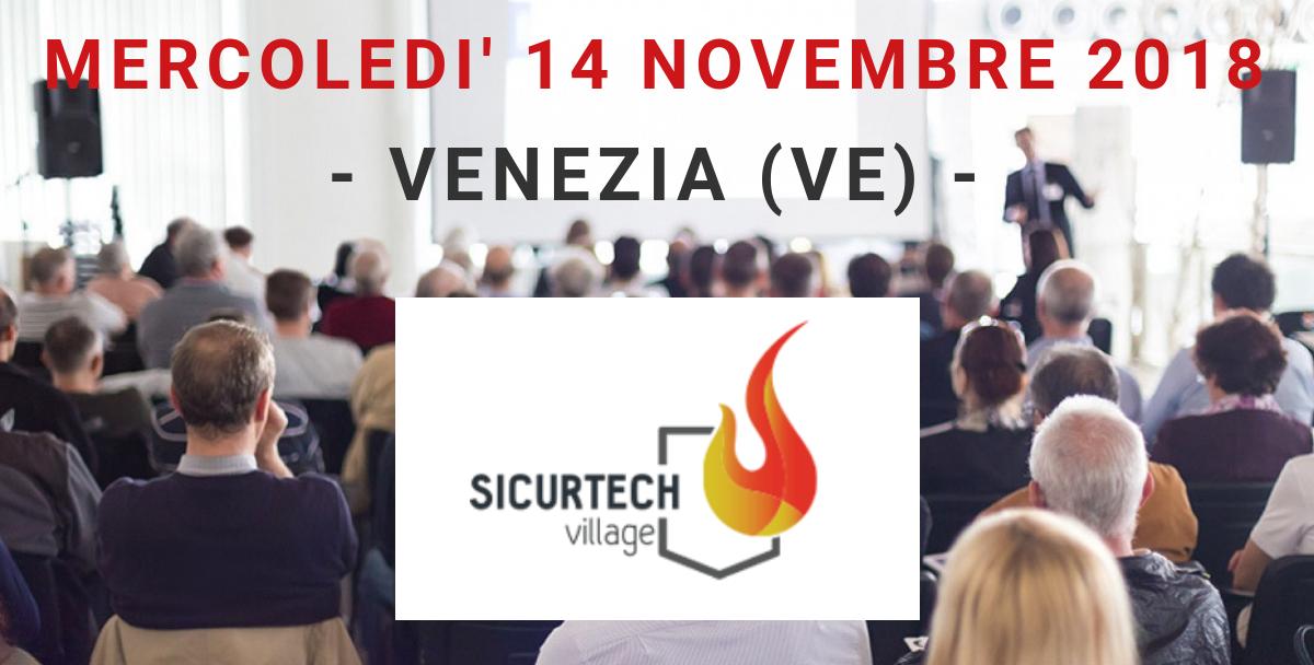AerNova partner al SICURTECH VILLAGE del 14/11/2018 a Venezia