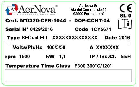 Etichettatura CE AerNova Ventilatori